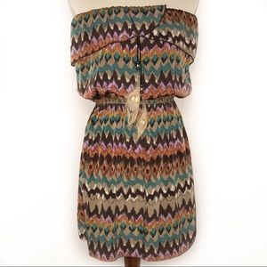 Kaitlyn Strapless Feather Embellished Dress M